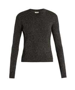 Saint Laurent | Long-Sleeved Ribbed-Knit Lurex Sweater