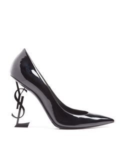 Saint Laurent | Opium Logo-Heel Patent-Leather Pumps