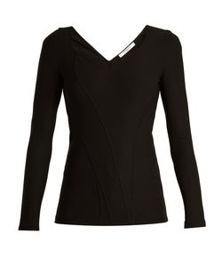 Givenchy | Sweetheart-Neck Stretch-Cady Top