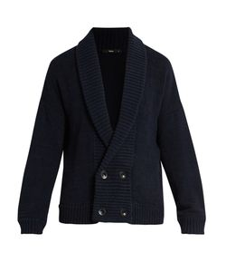 HELBERS | Shawl-Collar Cotton And Cashmere-Blend Cardigan