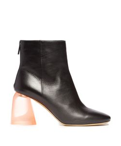 Ellery | Sa Plexi-Heel Leather Ankle Boots