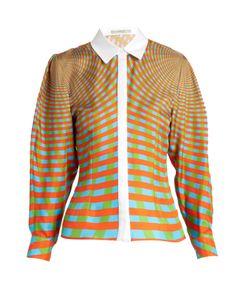 Mary Katrantzou | Hecate Spiralite-Print Silk-Twill Shirt