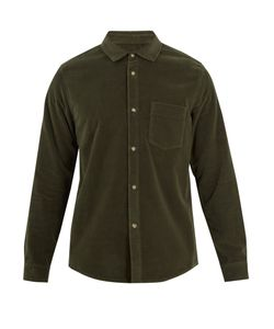 A.P.C. | John Patch-Pocket Cotton-Velvet Shirt
