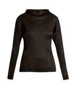PLEATS PLEASE BY ISSEY MIYAKE | Pleated High-Neck Long Sleeved Top