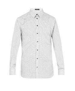 Alexander McQueen | Harness Micro-Checked Cotton-Poplin Shirt