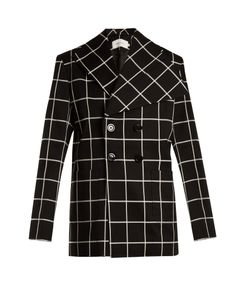 Marques Almeida | Checked Double-Breasted Cotton-Blend Blazer