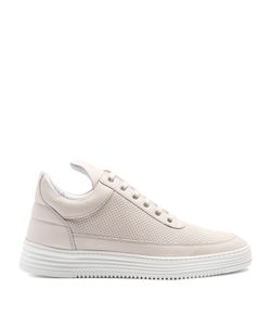 Filling Pieces | Perforated Nubuck Low-Top Trainers