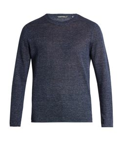 Vince   Rolled-Edge Knitted Linen Sweater