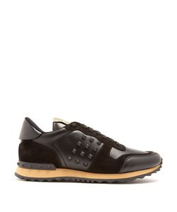 Valentino | Rockrunner Leather And Suede Trainers