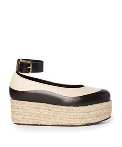 Marni | Bi-Colour Leather Flatform Espadrilles