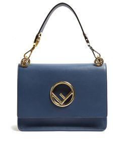 Fendi | Kan I Logo Leather Shoulder Bag
