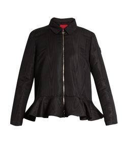 Moncler Gamme Rouge | Peplum Zip-Through Faille Jacket