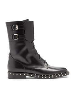 Valentino | Soul Lace-Up Leather Boots