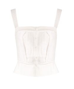Thierry Colson | Rossa Pleated Cotton-Blend Voile Cami Top