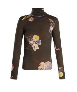Acne | Cleo High Neck Print Wool Sweater