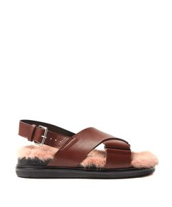 Marni | Fur-Insole Leather Sandals