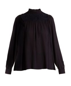 Chloe | Embroidered Crepe Blouse