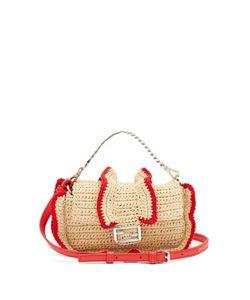 Fendi | Micro Baguette Raffia Cross-Body Bag