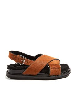 Marni | Cross-Strap Calf-Hair Sandals