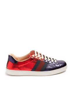 Gucci | Bi-Colour Snakeskin Trainers