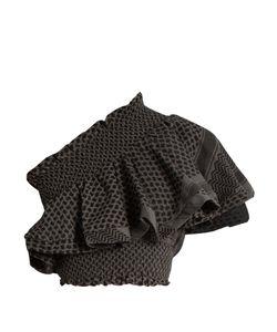 CECILIE COPENHAGEN | One-Shoulder Scarf-Jacquard Cotton Cropped Top