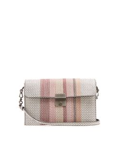 Bottega Veneta | Embroidered Snakeskin Shoulder Bag