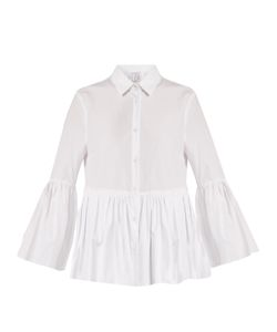 Stella Jean | Isterica Ruffled Cotton-Poplin Shirt
