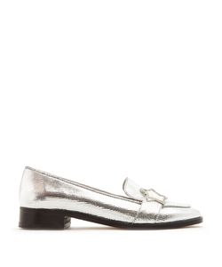 ALEXACHUNG | Embellished-Star Faux-Leather Loafers