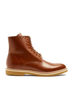 ARMANDO CABRAL   Warren Lace-Up Leather Ankle Boots
