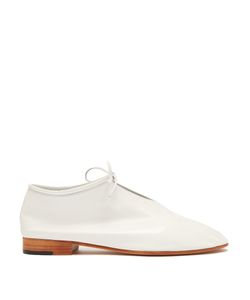 Martiniano | Bootie Tie-Front Leather Flats
