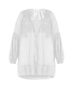 Lila Eugenie | Cotton-Blend Voile Cover-Up