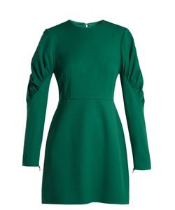 Tibi | Florence Gathered-Sleeve Mini Dress