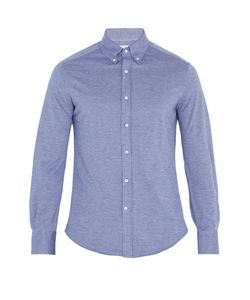 Brunello Cucinelli | Button-Down Collar Cotton-Jersey Shirt