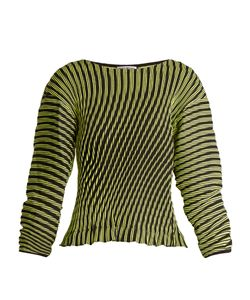 Issey Miyake | Plasma 1 Waved Stripe-Pleated Top