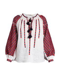 Vita Kin | Tisa Embroide Linen Blouse