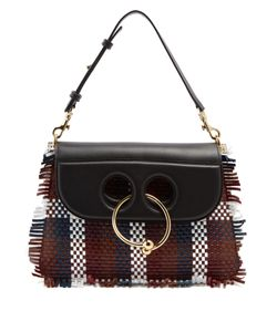 J.W. Anderson | Pierce Medium Woven-Leather Shoulder Bag