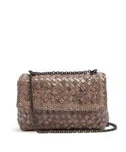 Bottega Veneta | Intrecciato Snakeskin Mini Leather Cross-Body Bag