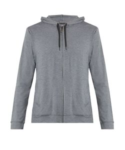 Derek Rose | Marlowe Zip-Up Jersey Hooded Sweatshirt
