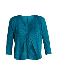 PLEATS PLEASE BY ISSEY MIYAKE | Pleated Cropped Cardigan