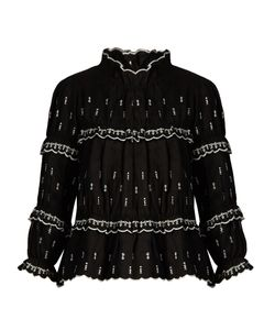 Isabel Marant Étoile | Daniela Ruffled High-Neck Blouse