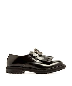 Alexander McQueen | Embossed-Buckle Leather Derby Shoes