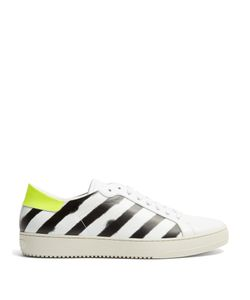 OFF-WHITE | Diagonals Low-Top Leather Trainers
