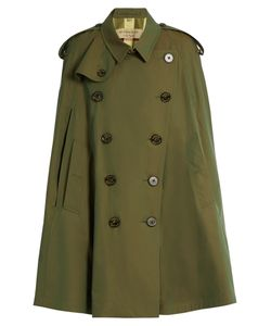 Burberry | Point-Collar Cotton Double-Breasted Cape