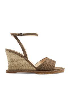 Bottega Veneta | Intrecciato Suede Espadrille Wedge Sandals