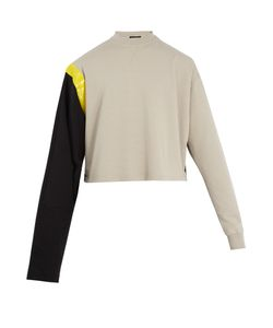 Raf Simons | Tape-Print Bi-Colour Cotton Sweatshirt