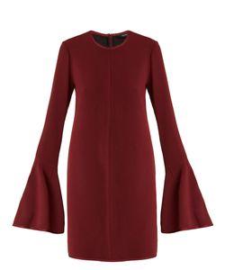 Ellery | Preacher Bell-Sleeved Crepe Dress