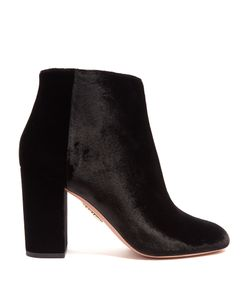 Aquazzura | Brooklyn Velvet Ankle Boots