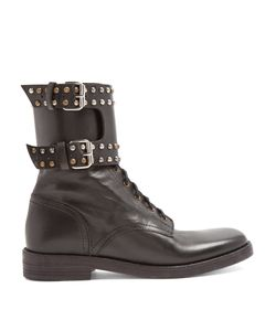 Isabel Marant | Étoile Teylon Stud-Embellished Leather Ankle Boots