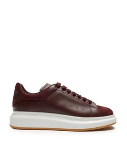 Alexander McQueen | Raised-Sole Low-Top Leather And Suede Trainers