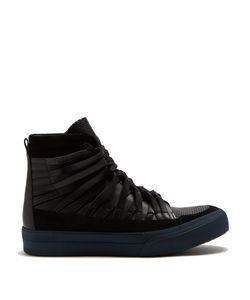 Damir Doma | Falco High-Top Leather And Suede Trainers